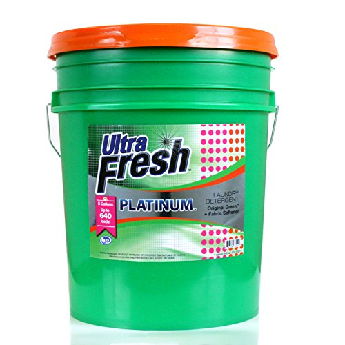 Ultra Fresh UFPGRDYL Platinum Original Green Plus Fabric Softener, HE, 5 gal, 640 oz. by Ultra Fresh