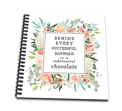 Album Chocolate 12x12 (3dRose Becky Nimoy Stationery – Women - Behind Every Successful Woman is a Substantial Amount of Chocolate - Memory Book 12 x 12 inch (db_291934_2))
