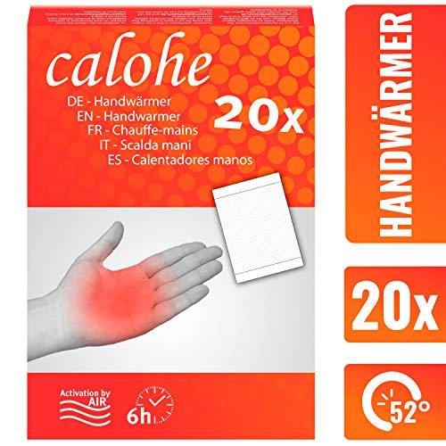 calohe Handwärmer - Taschenwärmer für die kalte Jahreszeit I Wärmekissen für Hände und Finger I 20x Wärmepads | 100% natürliche Inhaltsstoffe