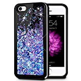 iPhone 5 5S SE Case, Caka iPhone 5S Glitter Case Starry Night Series