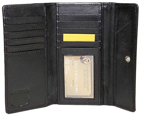 Cashmere Womans Snap Wallet (Ashlin RFID BLOCKING Cashmere Lambskin Leather Women's Wallet, Black (RFIDL5910-07-01))