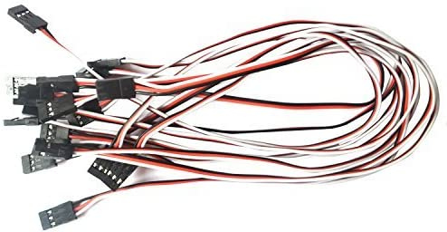 Details about  /10pc 150//300mm 3 Pin Servo Extension Cord for Futaba JR Connector Accessory