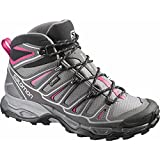 Salomon Women's X Ultra Mid 2 GTX Hiking Shoe, Detroit/Autobahn/Hot Pink, 8 M US