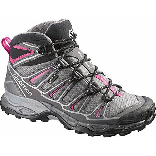 Salomon Women's X Ultra Mid 2 GTX Hiking Shoe, Detroit/Autobahn/Hot Pink, 8 M US by Salomon
