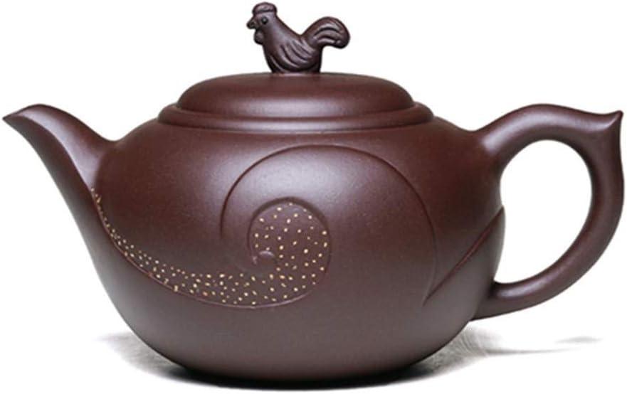 SHENTIANWEI ゾディアック宜興は有名な手鉱石紫の粘土のティーポットお茶の干支のにわとりをティーポット (Color : Purple mud)