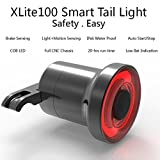 Smart Bike Tail Light Ultra Bright with Brake Sensing USB Rechargeable Waterproof LED Bicycle Tail Light Auto On/Off, High Intensity Rear Back Light Fits On Any Road Bike Easy to Install
