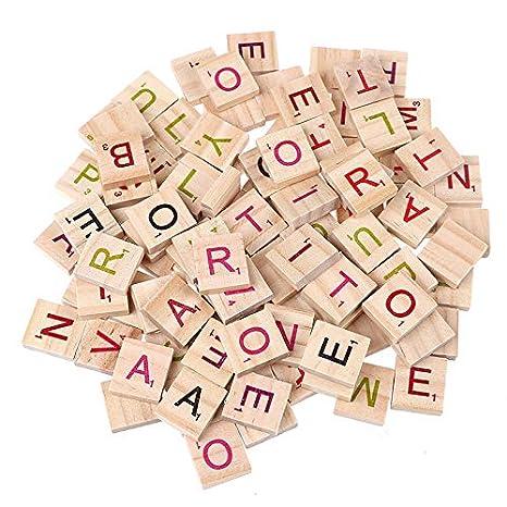 Amazon.com: Paquete de 100 letras de madera con letras del ...