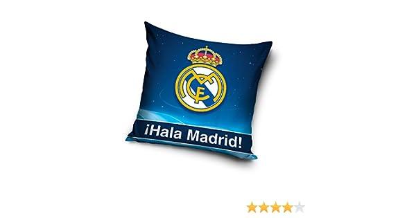 Real Madrid almohada cojín funda de almohada real madrid 40 cm x 40 cm, Rm6004p