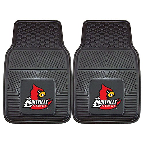 FANMATS NCAA University of Louisville Cardinals Vinyl Heavy Duty Car Mat ()