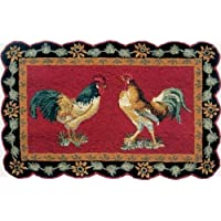 C&F Home 2 x 3 Hooked Rug, French Country Roosters