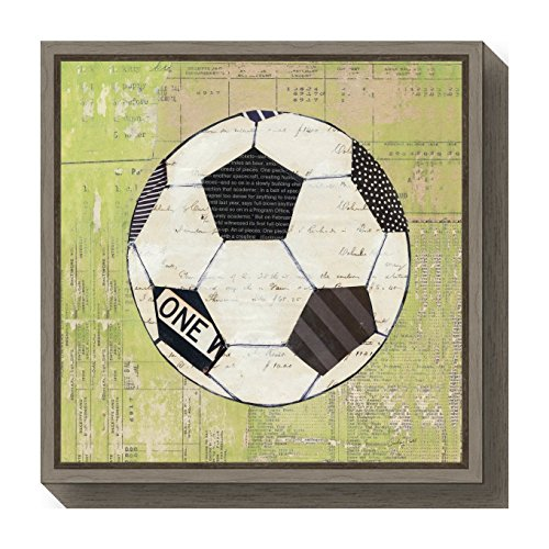 - Amanti Art Baseball Play Ball I Soccer by Courtney Prahl Canvas Art Framed, Small, Greywash