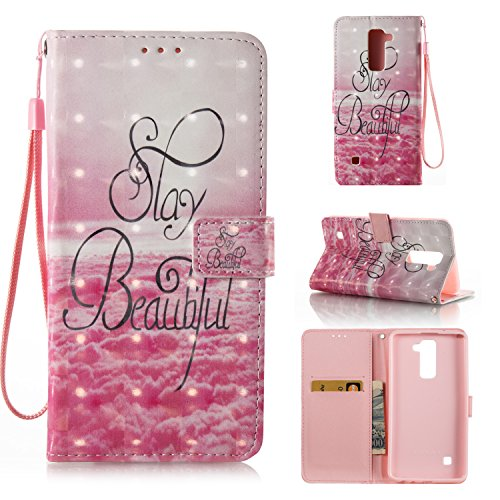 LG Stylo 2 Case, LG Stylo 2 Plus Case, Ranyi [3D Painted Wallet] [Variety Painted Patten] [Card Holder] Shiny Leather Flip Wallet Kickstand Case for LG Stylo 2 / LG Stylo 2 Plus (beautiful)