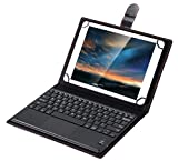 Pasonomi Wireless Bluetooth Keyboard Leather Smart Case with Touchpad and Stand for 9 Inch - 10 Inch Tablet PC (iPad, Samsung Tab, iRulu, Huawei, Asus, Lenovo, Dragon Touch)