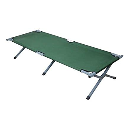 Olymstore Folding Camping Cot,Outdoor Portable Camp Bed, Hiking Army Military Style Sleeping Cots with Carry Bag Green