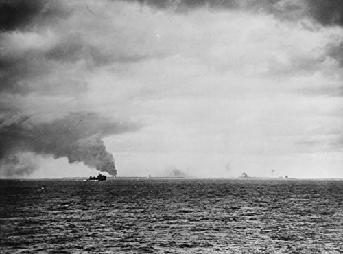 Home Comforts Laminated Poster The U.S. Navy Heavy Cruiser USS Northampton (CA-26) Firing Against The Japanese Base on Wotje Atoll, Vivid Imagery Poster Print 24 x 36 ()