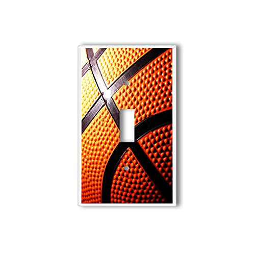 Light Switch Single Wall Plate Cover By InfoposUSA - Basketball Switchplate