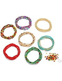 Waist Beads for Weight Loss Stretchy African Waist Beads for Women Belly Beads Chain Plus Size with String and Charms