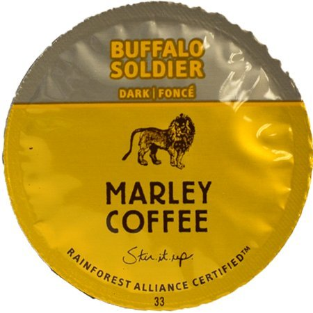 Marley Coffee Buffalo Soldier Single Serve Cups, 48 Count