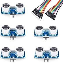 Emakefun 5PCS HC-SR04 Ultrasonic Module Kit Distance Sensor for Arduino UNO Mega R3 Mega2560 Nano Duemilanove Nano Raspberry Pi 3 Robot