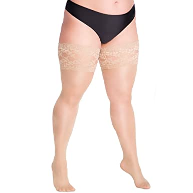 ac5e1c963 Plus Size Hold-Ups Stay Ups Extra Large 20 Denier Lycra 2XL - 4XL Lida