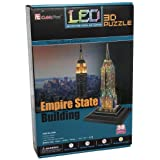 Empire State Building LED, 38 Piece 3D Jigsaw Puzzle Made by 3D-Puzzle