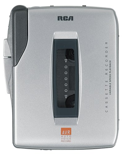 RCA RP3536 Handheld Cassette Recorder 5 Button Silver by RCA