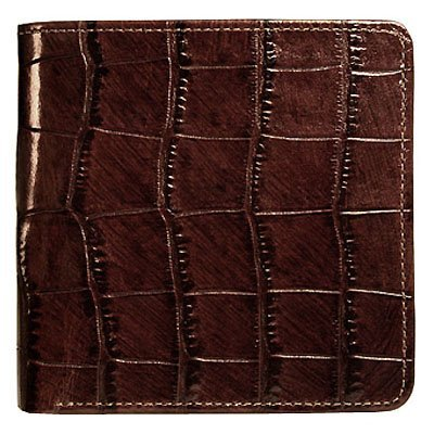 Croco Hipster Mens Wallet - Jack Georges Croco Collection Hipster Mens Wallet-Brown