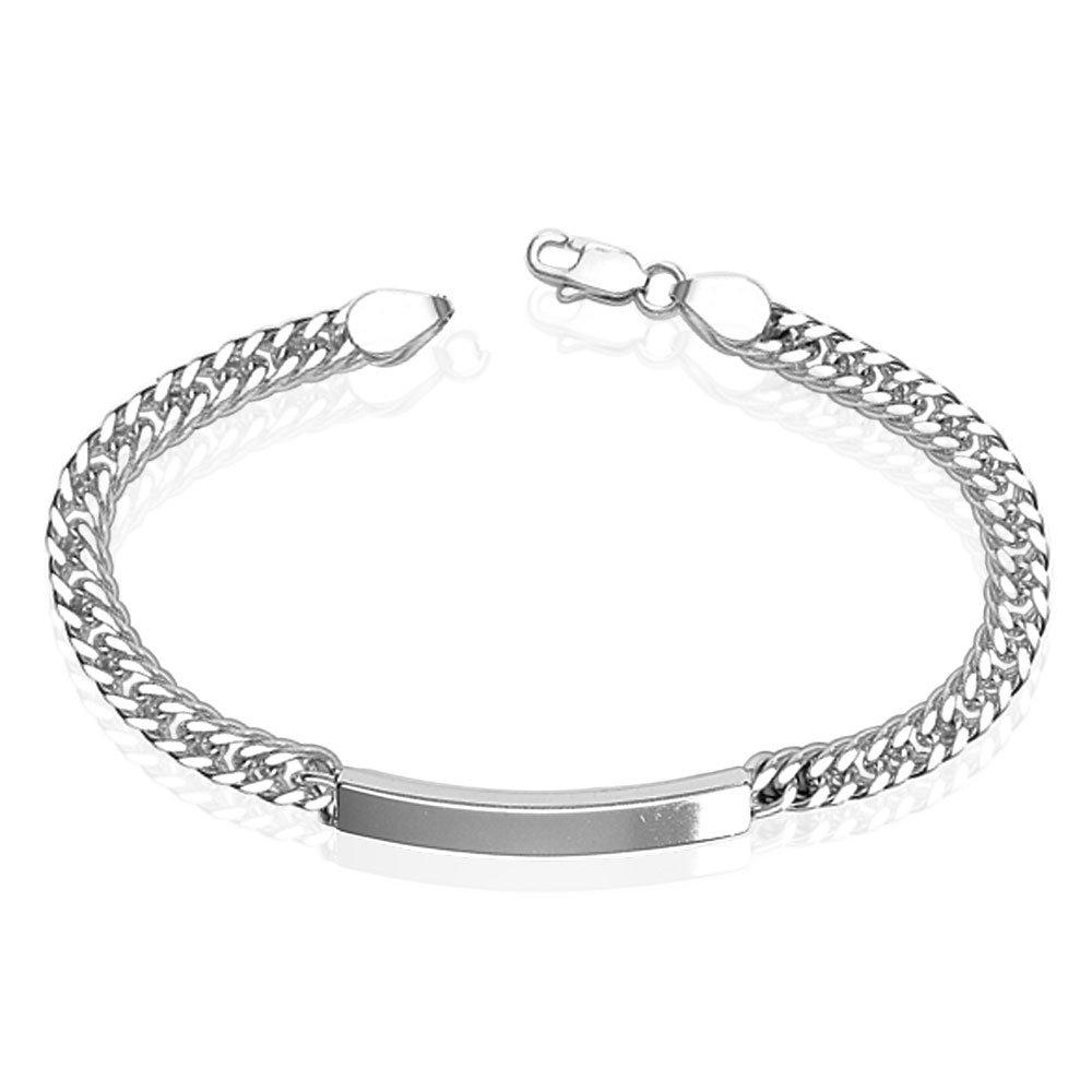 1b001b3fe78 Taraash 925 Sterling Silver Bracelet For Men Silver-BR0543S: Amazon.in:  Jewellery