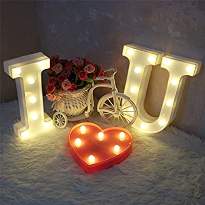 CSKB Light Up I Love You Letters Sign for Wedding LED Heart Marquee Lights Night Light Lamp Christmas Home Party Decoration: Home & Kitchen