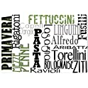 Gourmet Pro Offset Typography Printed Placemats Set of 4