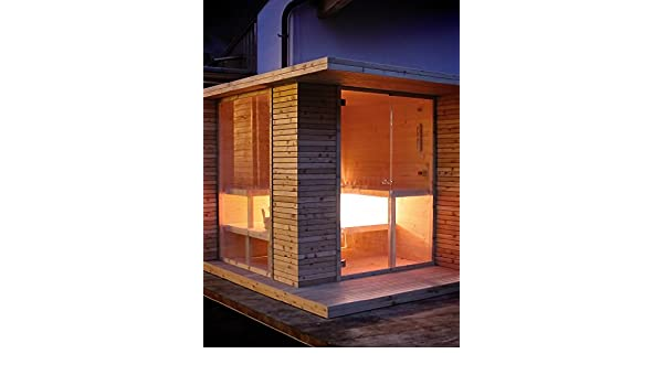 grandform Sauna de jardín con estufa eléctrica o a leña Outside Pro (cm). 280 x 200 x 208 H.): Amazon.es: Hogar