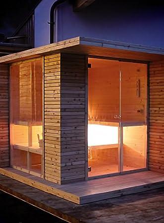 grandform Sauna Garten mit elektrische Raumheizung oder Holzofen ...