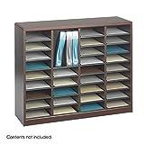 Scranton & Co Mahogany Wood Mail Organizer - 36 Compartments