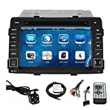 TLTek 7 inch Touch Screen Car GPS Navigation System For Kia Sorento 2011 2012 2013 DVD Player+Backup Camera+North America Map