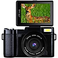Digital Camera Full HD Video Camera 1080p 24.0MP Vlogging...