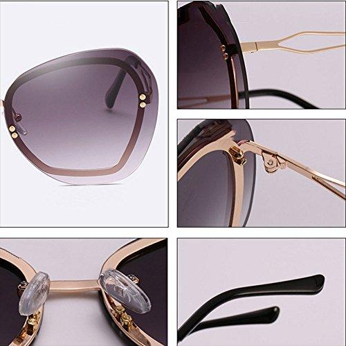 Sports Sol Avant Trend Wind GUOHONGCX Care Marco E Gafas Eye Protection Metal Personalidad Moda Protector Diamante Sol Irregular De Unisex Gafas C De De twPPdqT