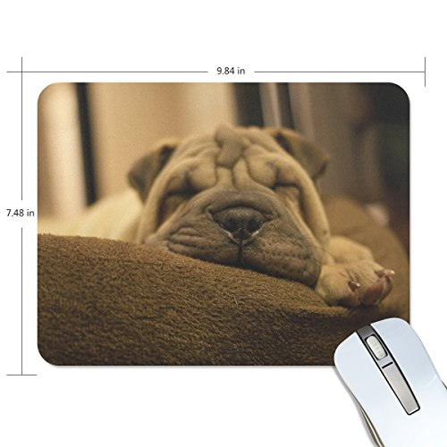 BlueViper Cute Shar Pei Dog Sleeping Mouse Pad Smooth Surface Gaming Pad Thick Non-Slip Rubber Base Colorful Cute Design Art Artist Painting Unique Novelty Gift for School Office Game