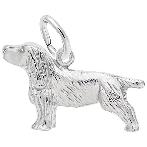 Springer Spaniel Charm In Sterling Silver, Charms for Bracelets and Necklaces