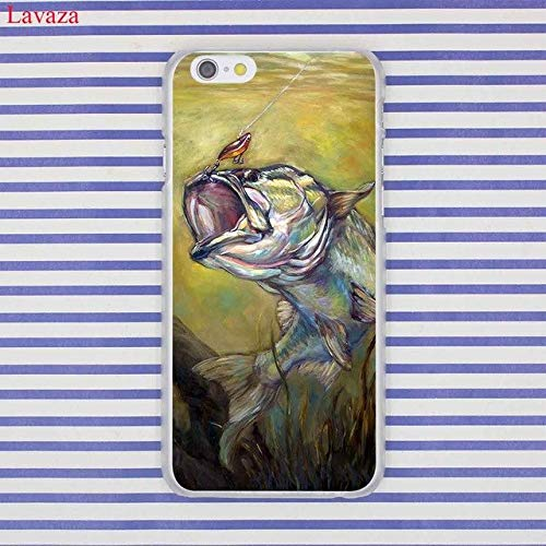 MISC Green Grey Bass Fishing Themed iPhone XR Case Hunting Fish Sport Cover Fisherman Hook Line Sinker Reel Ocean Splash Activity Water, Plastic (Fish And Water Iphone Case)