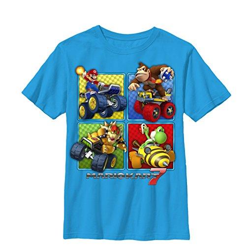 Nintendo Boys' Mario Kart 7 Top Players - Turquoise T-Shirt