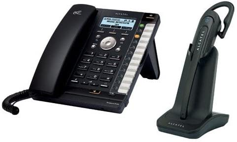 Alcatel-Lucent IP370 – Teléfono SIP PoE incl. IP70 Dect headset, color negro: Amazon.es: Electrónica