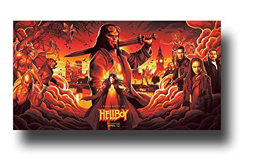 Hellboy Poster Movie Promo 17 x 9 inches Wide Red 2019 Legendary AF
