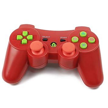 RQINW Controlador de Juegos inalámbrico Bluetooth para PS3 Controlador para PS3, Carga por USB,