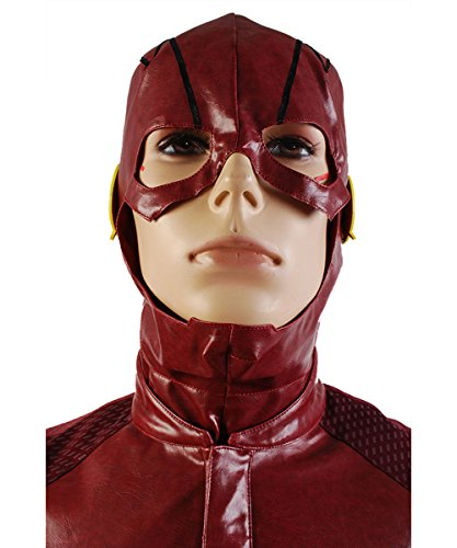 Allen Halloween Costume Barry (NoveltyBoy The Flash Barry Allen Red Hat Coat Pants Set Outfit Cosplay)