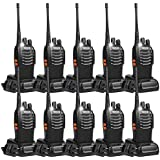 Retevis H-777 Walkie Talkies UHF Long Range Rechargeable 2 Way Radio 16CH Portable Handheld Emergency Two Way Radios Set (10 Pack) with Adapter