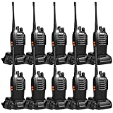 Retevis H-777 2 Way Radios Walkie Talkies USB Rechargeable Flashlight Long Range UHF Radio 16CH (10 Pack)