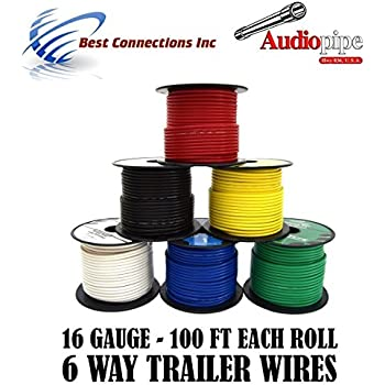 amazon com 7 way trailer wire light cable for harness 50 ft each rh amazon com