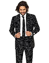 Classy Printed Men's Suit - Comes with Pants, Jacket and Tie – Go-to Outfit for New Year's Eve