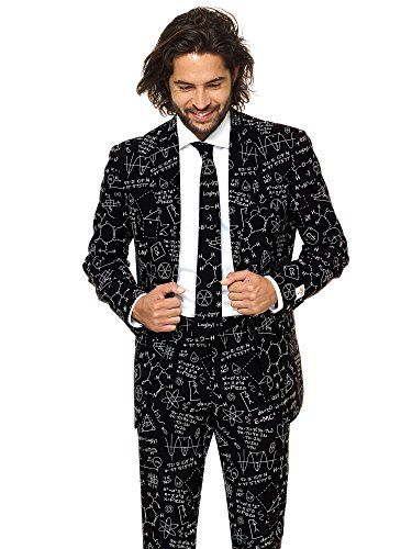 OppoSuits Classy Printed Men's Suit - Comes with Pants, Jacket and Tie - Go-to Outfit for New Year's Eve -