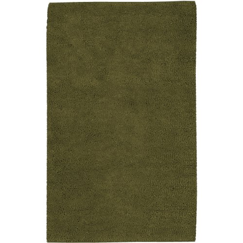 Surya Aros AROS-7 Shag Hand Woven 100% New Zealand Felted Wool Dark Olive Green 8' x 10'6